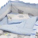 Lenjerie MyKids Teddy Toys Blue 4+1 Piese 140x70
