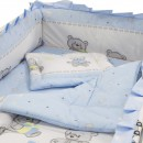 Lenjerie MyKids Teddy Toys Blue M1 4+1 Piese 140x70