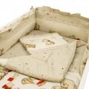 Lenjerie MyKids Teddy Toys Maro 4 Piese 120x60