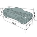 Pat masina tineret MyKids Light-MG 3D Rosu