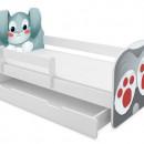 Patut Tineret cu sertar MyKids Animals Rabbit 140x70