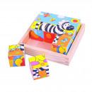 Puzzle cubic - safari