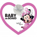 Semn de avertizare Baby on Board Minnie Disney CZ10422