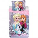 Set lenjerie pat copii Frozen Elsa and Anna 90x140 + 40x55 SunCity CTL69865A
