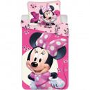 Set lenjerie pat copii Minnie Baby 100x135 + 40x60 SunCity JFK025222