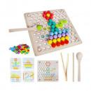 Joc educativ Mozaic cu bile din lemn Iso Trade MY17389
