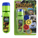 Lanterna proiector cu 3 diapozitive Dino Bambinice BN015