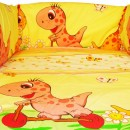 Lenjerie MyKids Dino Roz 5 Piese 120x60