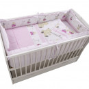 Lenjerie MyKids Teddy Play Pink M2 4+1 Piese 120x60