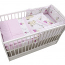 Lenjerie MyKids Teddy Play Pink M2 4 Piese 120x60
