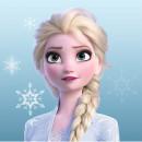 Prosop fata Frozen Elsa 30x30 cm SunCity CTLFT731