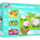 Set 4 puzzle-uri Animale de la ferma (4, 6, 8, 12 piese)