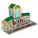 Set constructie puzzle 3D - Gara tren Fiesta Crafts FCT-3049