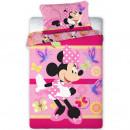 Set lenjerie pat copii Minnie Butterflies 100x135 + 40x60 SunCity FRA576463