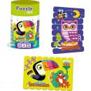 Set puzzle-uri din betisoare Pasari, 16 piese Roter Kafer RK1090-04