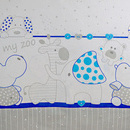 Lenjerie MyKids My Zoo Albastru 4 Piese 120x60
