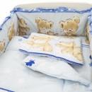Lenjerie MyKids Teddy Hug Blue M1 4+1 Piese 120x60