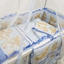 Lenjerie MyKids Teddy Hug Blue M1 7 Piese 120x60 cm