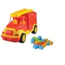 Masina pompieri 43 cm cu 38 piese constructie, in cutie Ucar Toys UC85