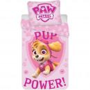Set lenjerie pat copii Paw Patrol Pup Power Skye 100x135 + 40x60 SunCity BRM004986