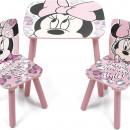 Set masuta si 2 scaunele Minnie Mouse