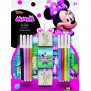 Set pictura 11 piese, 2 stampile, tus si 8 carioci Minnie Multiprint MP26866