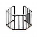 Tarc de siguranta modular cu 5 panouri, metal negru, Noma N94238