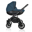 Carucior copii 3 in 1 MyKids Basic Soft Deep Blue Gel