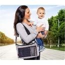 Geanta organizator cu aleza pentru schimbat scutecul bebelusului Reer Clip&Go Vario 84072
