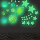 Set 100 Stele si 8 Planete Fosforescente Bambinice BN012