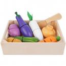 Set Ladita cu legume din lemn pentru feliat Iso Trade MY17542