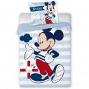 Set lenjerie pat copii Mickey Sailor 100x135 + 40x60 SunCity FRA576531