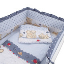 Aparatoare Laterala MyKids Teddy Friends Gri M2 140x70