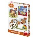 Baby puzzle - Animalute jucause (3-5 piese)