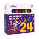 Carioci lavabile 24 culori Mideer MD4070
