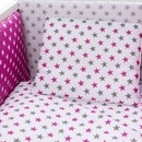 Lenjerie MyKids Colorful Stars Pink 9 Piese 120x60 cm