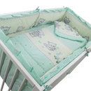 Lenjerie MyKids Teddy Toys Turquoise 4+1 Piese M1 120x60