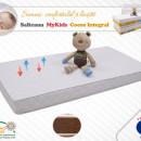 Saltea MyKids Fibra De Cocos Integral 120x60x10 Husa Microfibra Matlasata