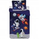 Set lenjerie pat copii Astronaut 100x135 + 40x60 SunCity BRM004269