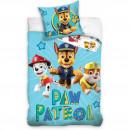 Set lenjerie pat copii Paw Patrol Chase 100x135 + 40x60 SunCity CBX202005PAW