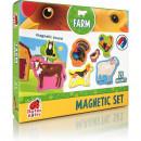 Set magnetic Animale de la Ferma cu Plansa magnetica inclusa, 21 piese Roter Kafer RK2090-01