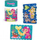 Set puzzle-uri din betisoare Sirena si Calut de mare, 16 piese Roter Kafer RK1090-03
