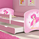 Patut Tineret MyKids Fairy cu Sertar si Saltea 140x70