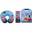 Set calatorie 3 piese, Aparatoare pentru scaun, Perna gat si Protectie centura de siguranta Mickey Road Trip Disney CZ3103416
