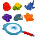 Set jucarii de baie cu plasa de pescuit Iso Trade MY17534