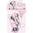 Set lenjerie pat copii Minnie Cartoon 100x135 + 40x60 SunCity JFK025130