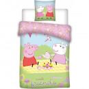 Set lenjerie pat copii Peppa Pig with Friends 100x135 + 40x60 SunCity BRM000971