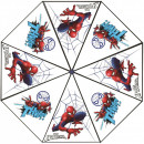Umbrela transparenta Spiderman, diametru 76 cm SunCity CTL08836