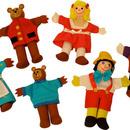 2 in 1 - Pinochio si Povestea Cei trei ursuleti - Papusi degetar