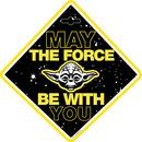 Semn de avertizare Baby on Board Star Wars Yoda Seven SV9623